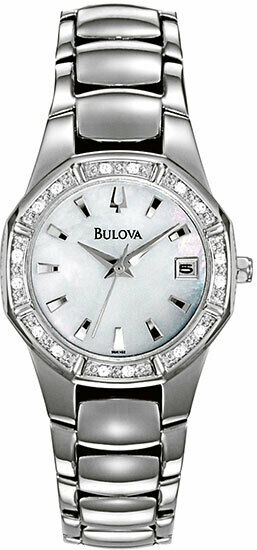 Diamond Set Bulova Watch Model 96R102