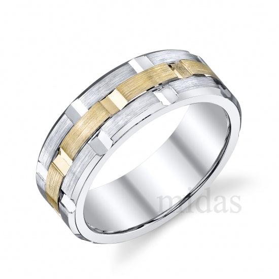 18KT TWO TONE WEDDING BAND
