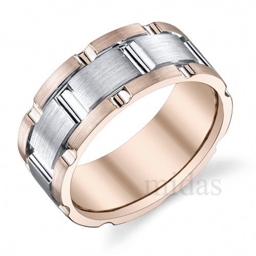 18Kt Two Tone Band  A006