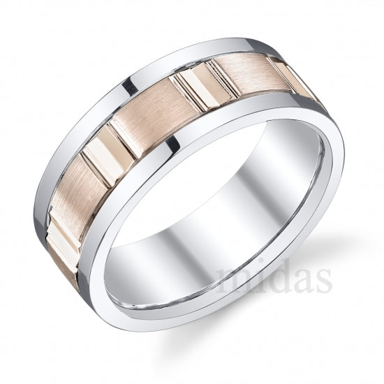 18KT GOLD TWO TONE WEDDING BAND