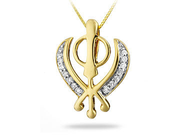 DIAMOND KHANDA PENDANT