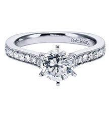 1 Carat Lab Grown Moissanite Engagement Ring with Shoulder stones