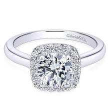 Load image into Gallery viewer, 1 Carat Total Sparkling Diamond Halo Engagement Ring