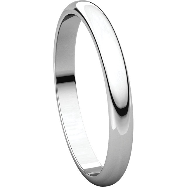 Half Round Platinum Band