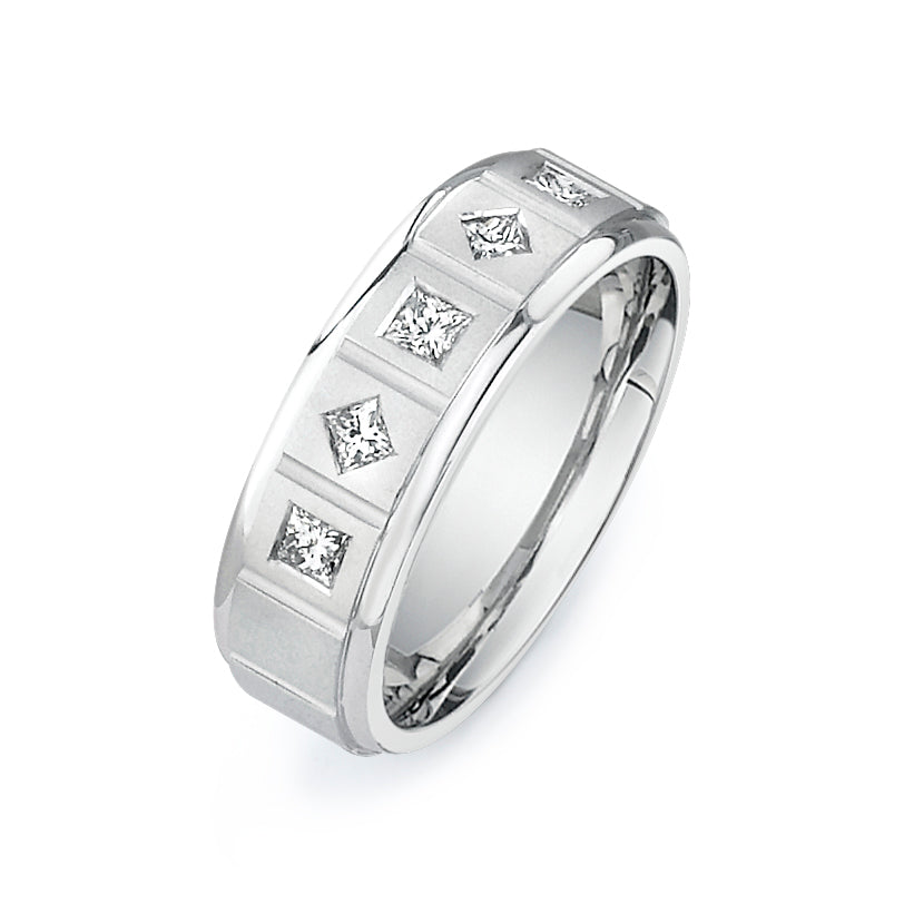1/2CTW Princess Cut Diamond Band  P050