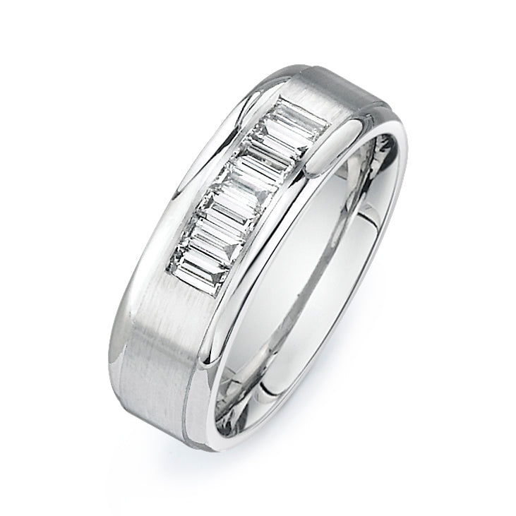 3/4Ctw Emerald Cut Diamond Band  P064