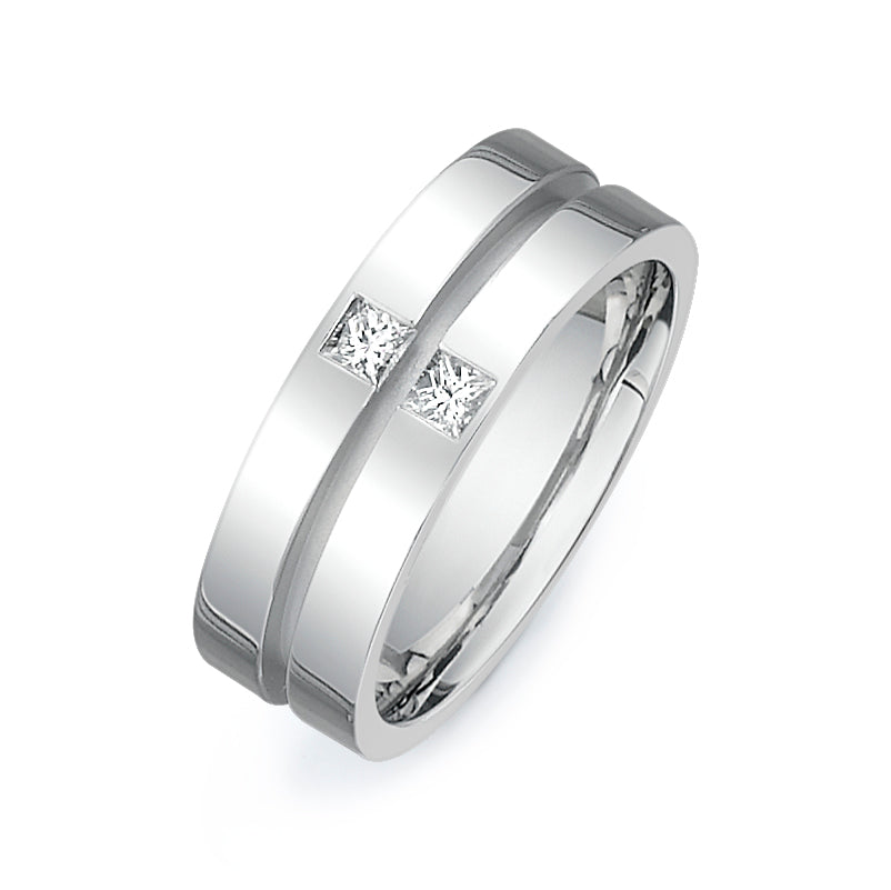 1/4CTW PRINCESS CUT DIAMOND WEDDING BAND