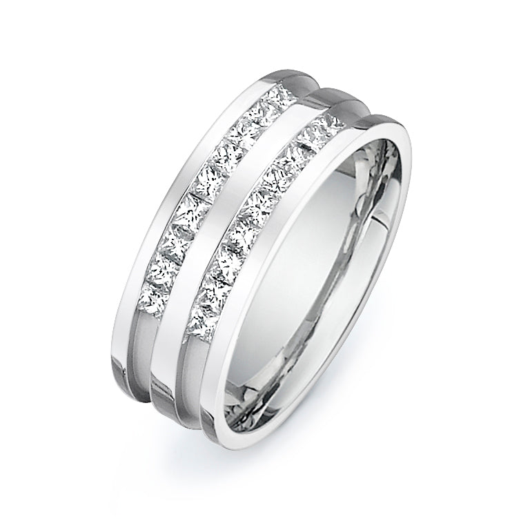 1CTW Princess Cut Diamond Band  P089