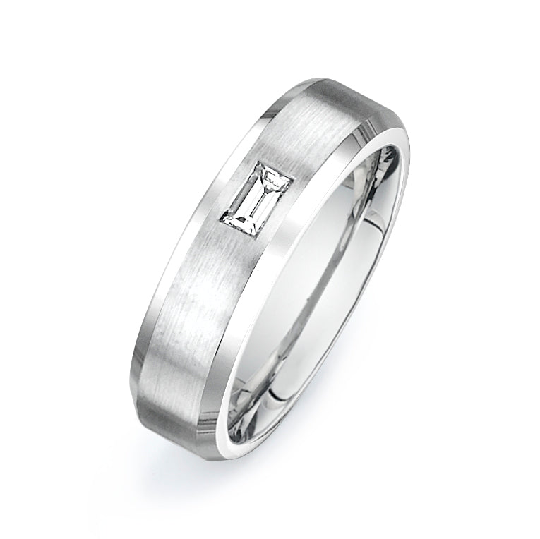 1/4CTW EMERALD CUT DIAMOND WEDDING BAND
