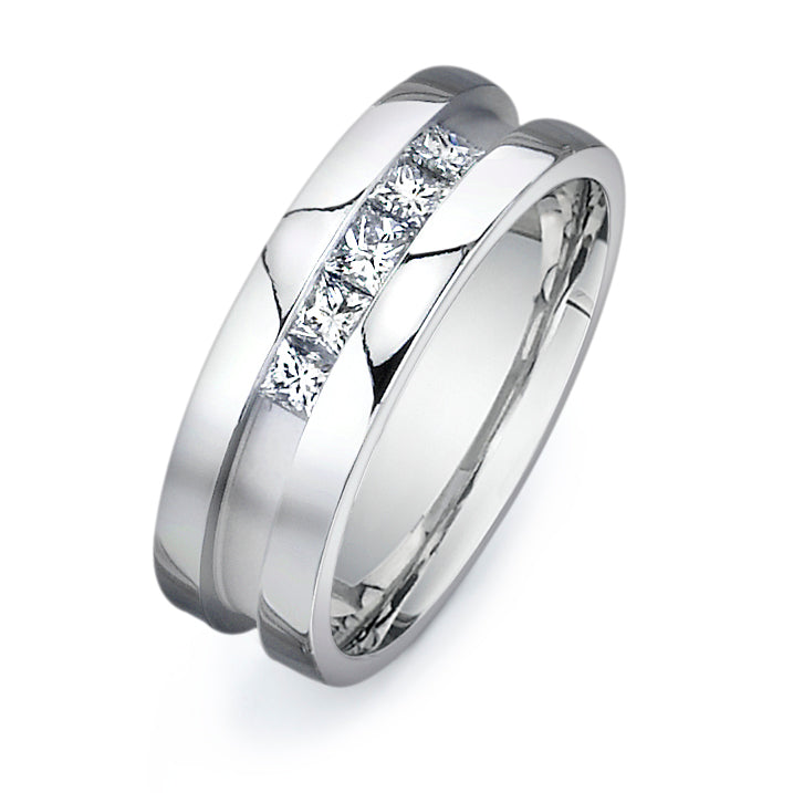 3/4CTW PRINCESS CUT DIAMOND WEDDING BAND