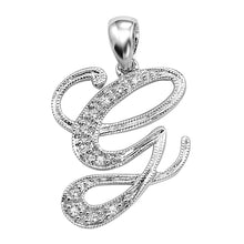 Load image into Gallery viewer, Diamond Script Pendant