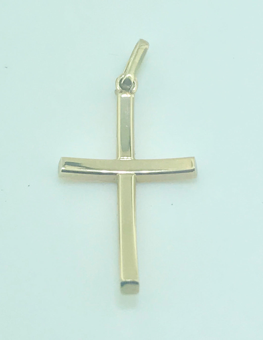 Yellow Gold Curved Cross
