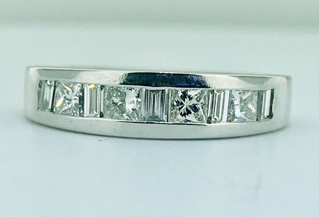 CHANNEL SET PRINCESS AND BAGUETTE CUT DIAMOND BAND