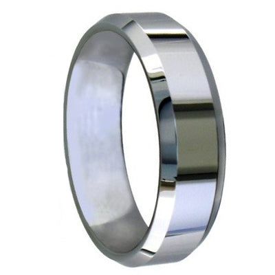 Tungsten Bevelled Edge Polished Band