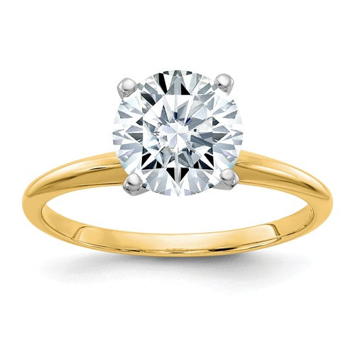 2 Carat Lab Grown Moissanite Solitaire Ring  WGSH15-15MP