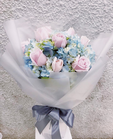 Cotton Candy Hydrangeas Mix-Fresh Flowers