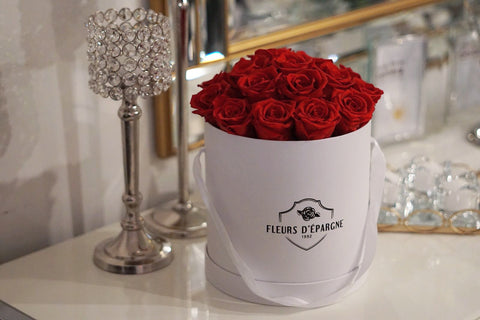 Romance Red in Classic Rose Bucket