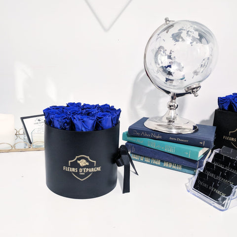 Royalty Blue in Keepsake Round Box