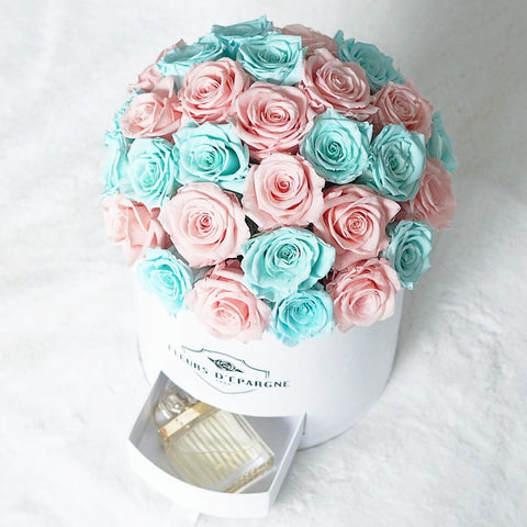 Classic Rose Dome Bucket with Drawer