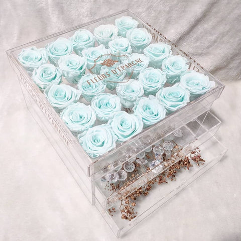 Tiffany Vanity in Ultimate Crystal Box