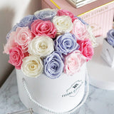 Midsummer's Blooms in Prestige Rose Bucket