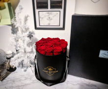 Load image into Gallery viewer, Bed of Red Roses in our Original Rose Bucket