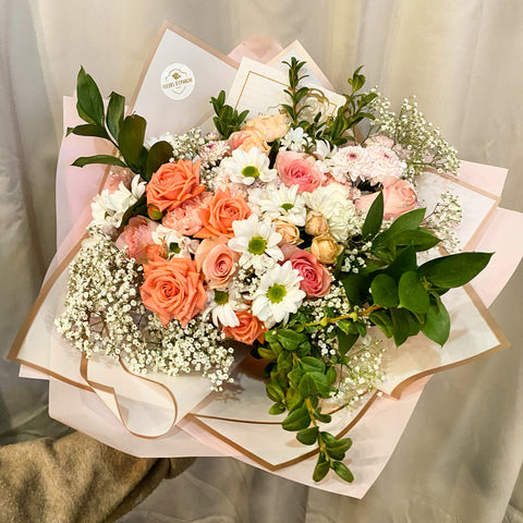 Blushing Blooms-Fresh Flowers
