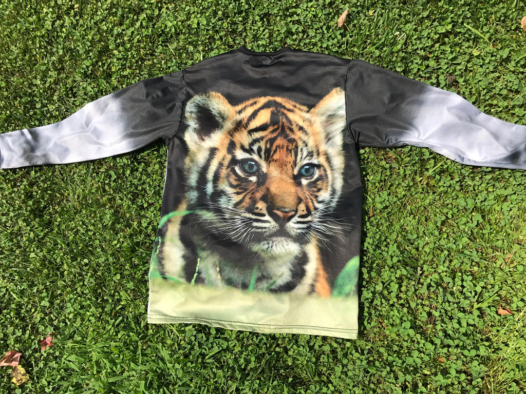 Tiger Long Sleeve Crew Neck- Sun Protective UPF 50+