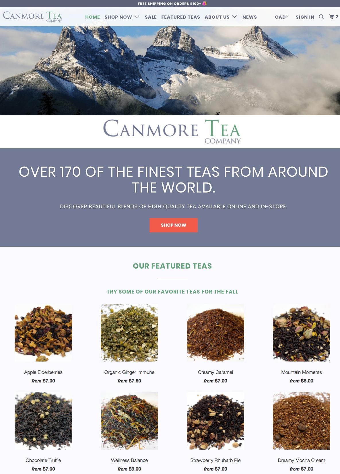 Canmore Tea Company Online Store Open Now!