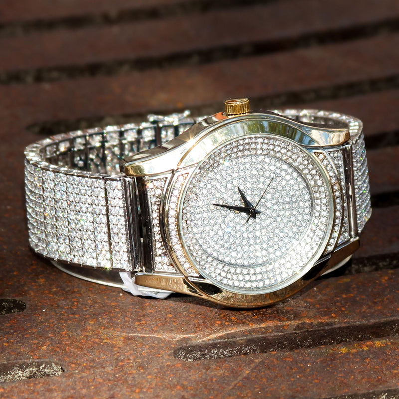 Fully Iced Out Custom CZ Techno Pave Watch