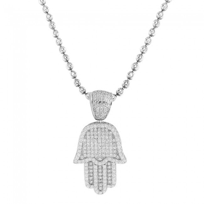 Hamsa Diamond Pendant 35mm
