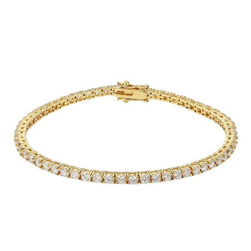 Gold Tennis Bracelet 14K White Gold 3mm