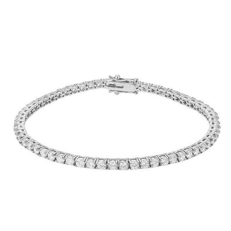 White Gold Tennis Bracelet 14K Gold 3mm