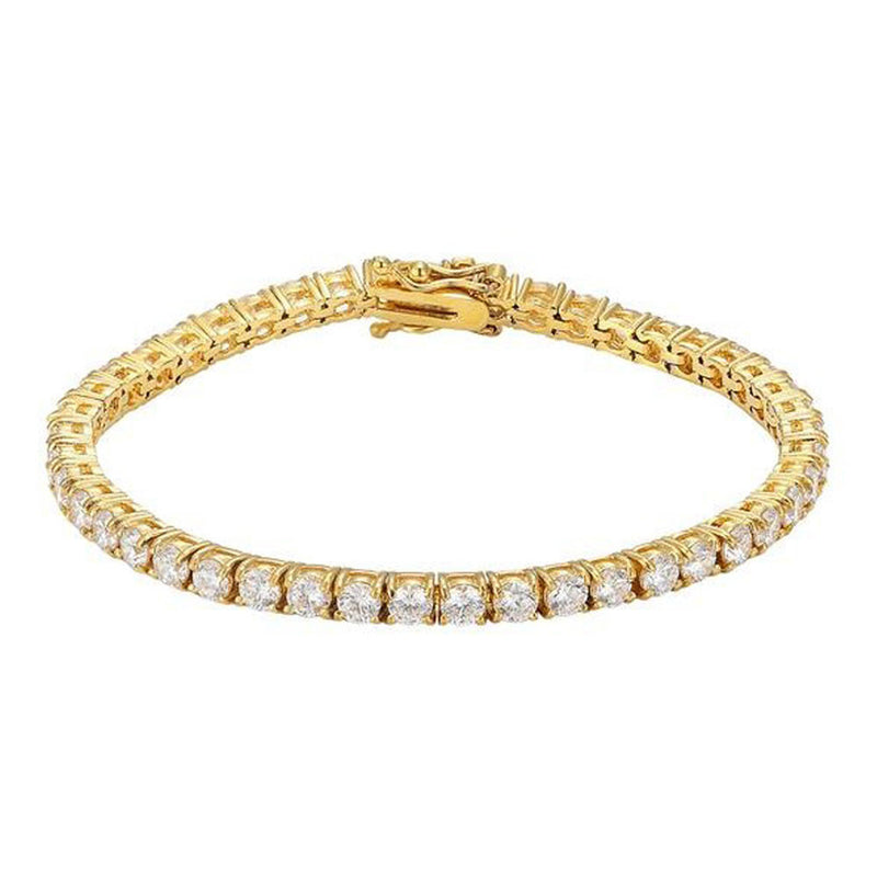 Gold Tennis Bracelet 14K White Gold 4mm