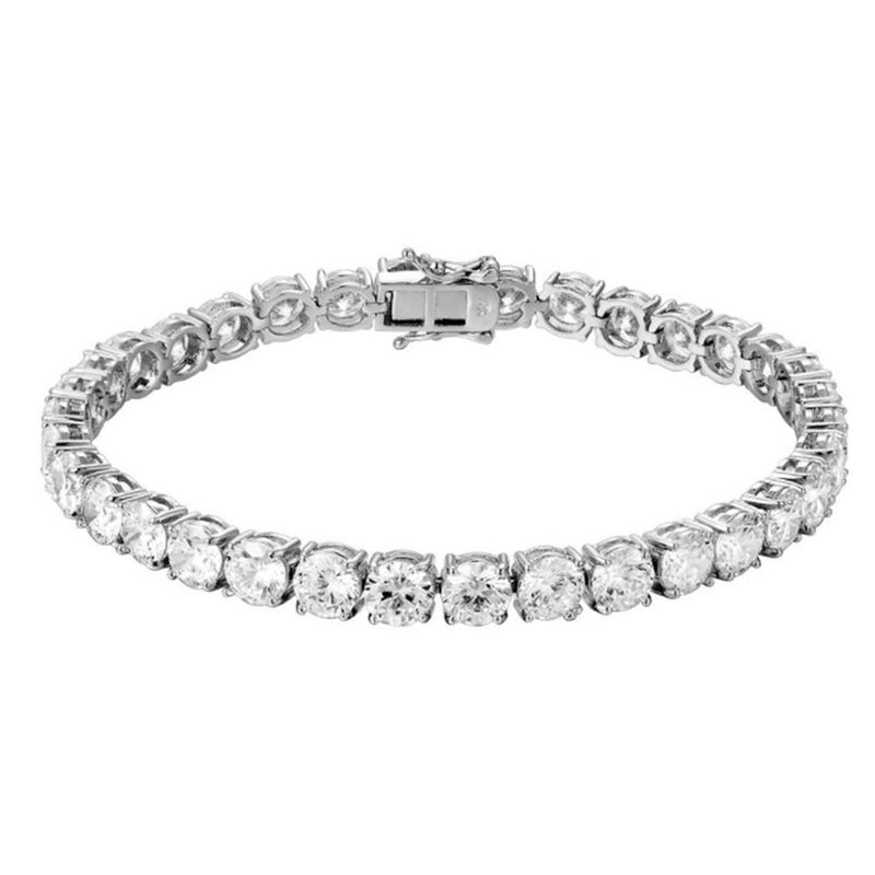White Gold Tennis Bracelet 14K White Gold 6mm