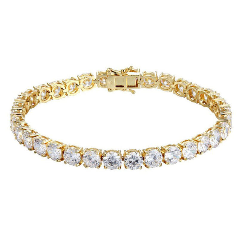 Gold Tennis Bracelet 14K White Gold 6mm