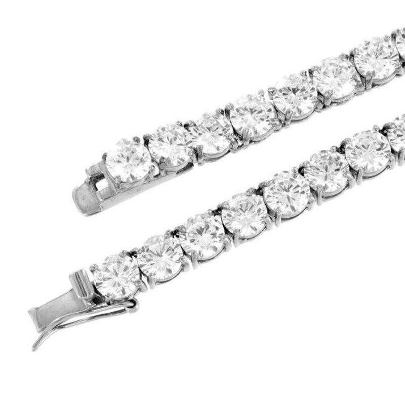White Gold Tennis Bracelet 14K Gold 4mm