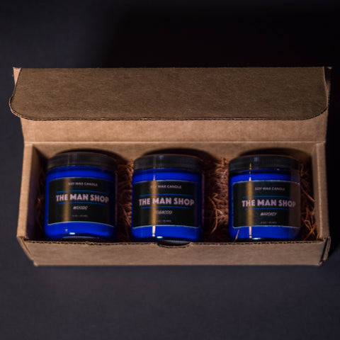 The Man Shop Mini Candle Gift Set