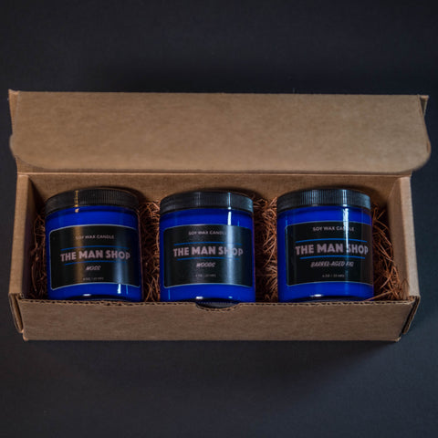 The Man Shop Candle Gift Set- Mancandles and Soy Wax Candles