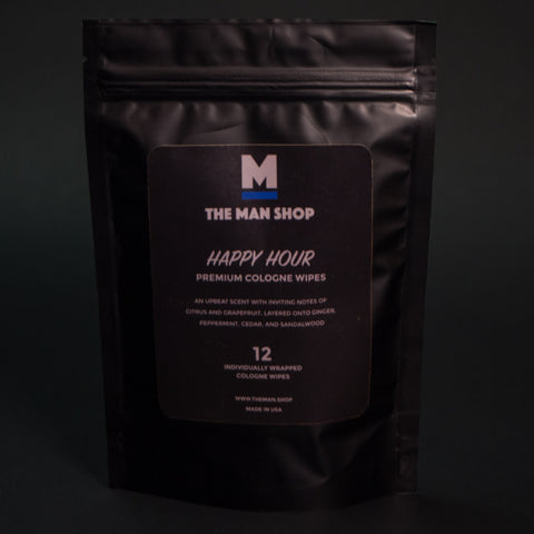 The Man Shop Happy Hour Cologne Wipes