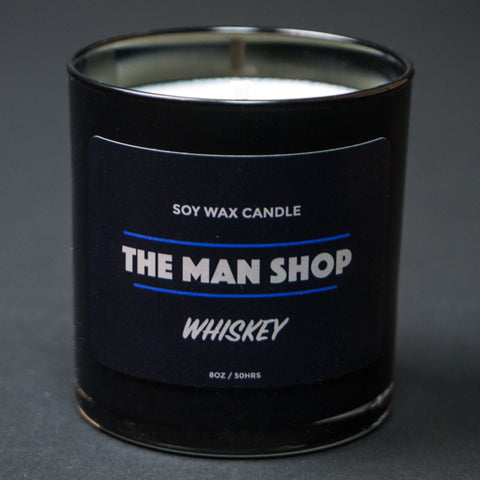 The Man Shop Whiskey Soy Wax Candle