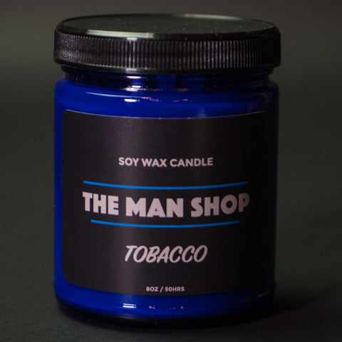 The Man Shop Tobacco Soy Wax Candle Cobalt