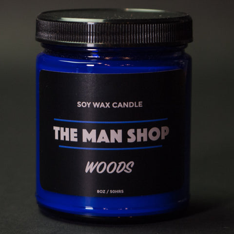 The Man Shop Woods Soy Wax Candle Cobalt