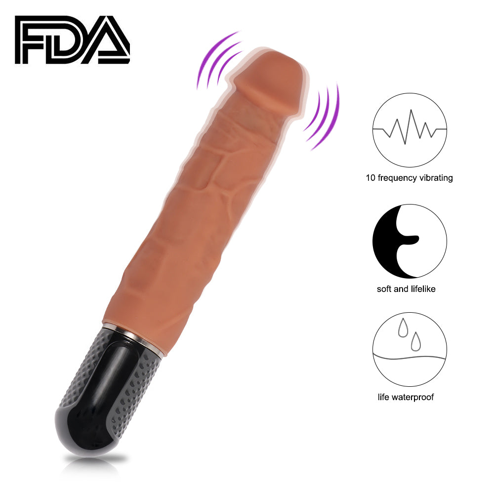 Mr Maxim's  Ultra Realistic Dildo  with 10  Vibration modes