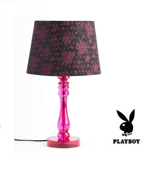 PLAYBOY Pink Love Table Lamp Light - The Bowerbirds Nest of Treasures