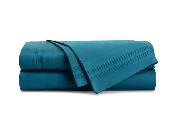 Bambury Single Bed Teal Fitted Sheet Set - the-bowerbirds-nest-of-treasures