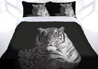 Tiger Blue Eyes Double Bed Quilt Doona Duvet Cover Set - The Bowerbirds Nest of Treasures