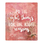 Splosh Have Faith Right Things Verse Inspirational Plaque Home Wall Decor - The Bowerbirds Nest of Treasures