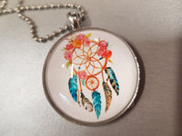 Dream Catcher Feathers Necklace Pendant Chain Girls Teens Jewellery - The Bowerbirds Nest of Treasures