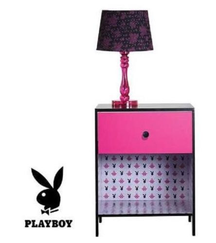 PLAYBOY Love Pink Bedside Table Bedroom Decor - the-bowerbirds-nest-of-treasures